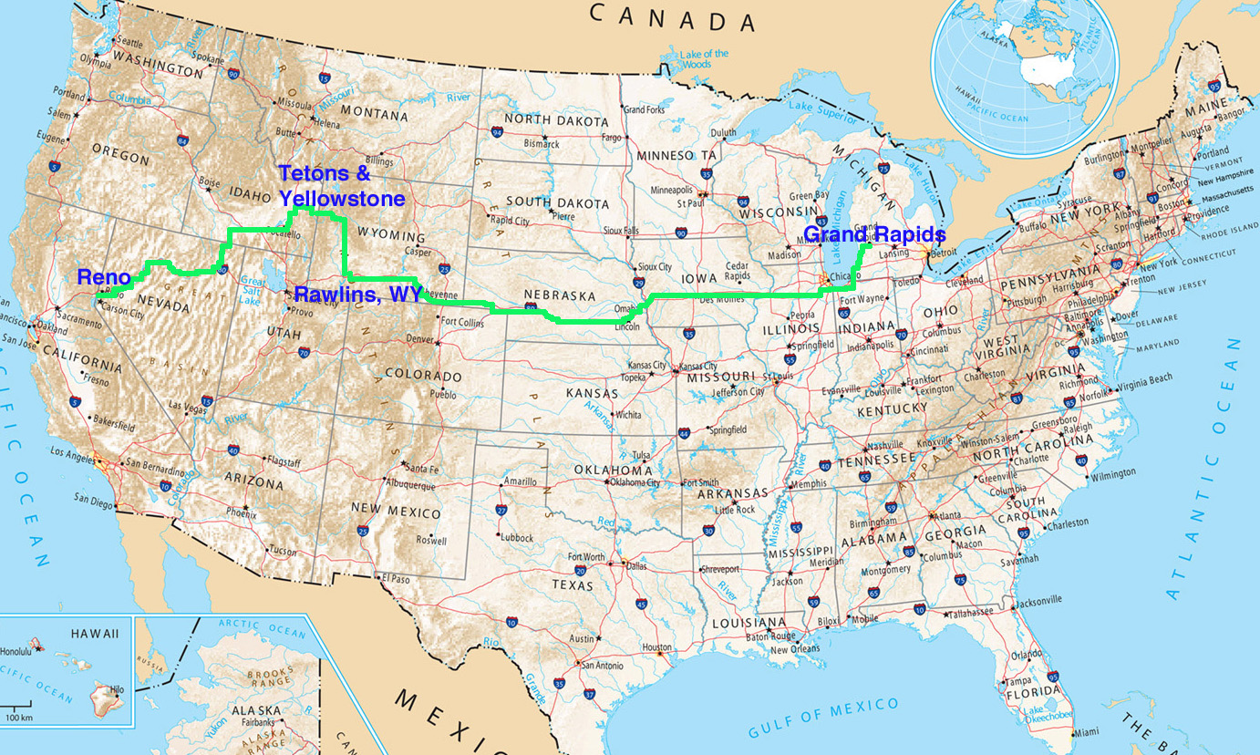 Road Trip Part Arnieleecom Usa National Road Map